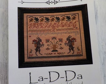 A Two Rabbit Sampler by La-D-Da...cross stitch pattern