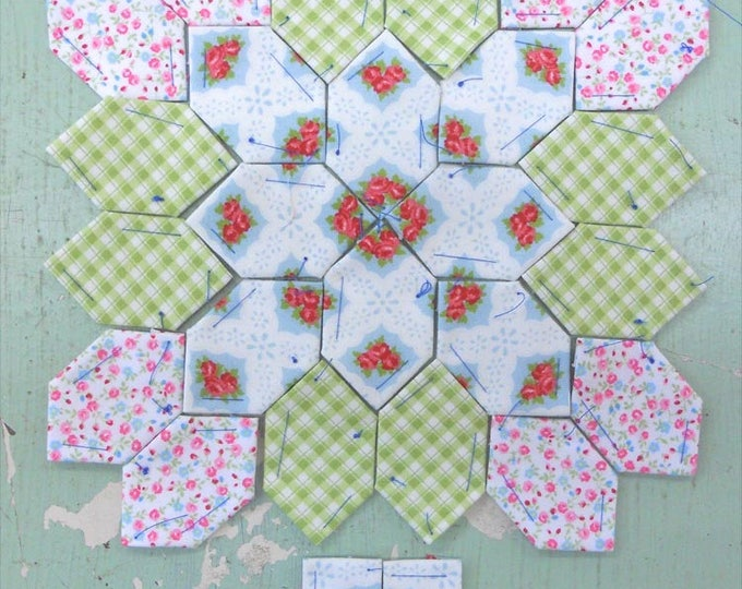 Last KIT!  Lucy Boston Patchwork of the Crosses summer cottage block kit #22
