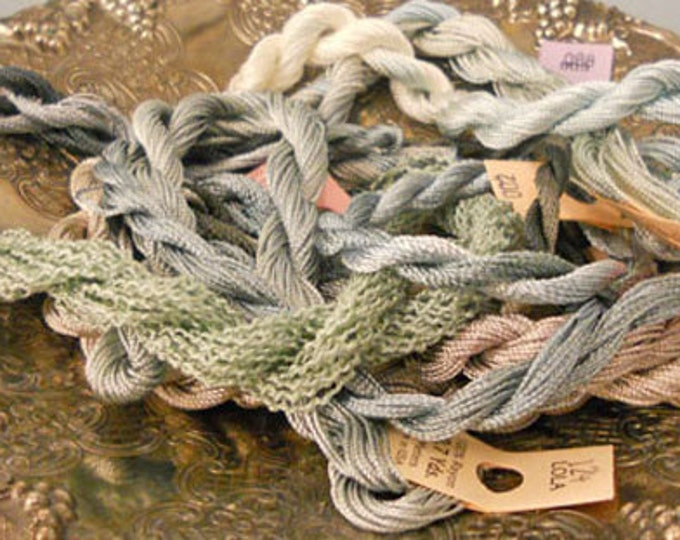 Shades of Grey Thread Pack of 10 skeins of Edmar Thread.