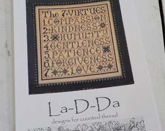 The 7 Virtues by La-D-Da...cross stitch pattern