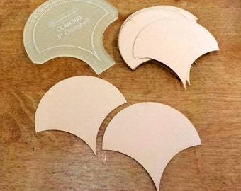 Clamshells, 3 inch...30 pieces, laser cut, acrylic template
