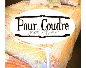 Pour Coudre book by Mickey Zimmer for Sweetwater Cotton Shoppe