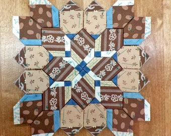 Lucy Boston Patchwork of the Crosses civil war block kit #34