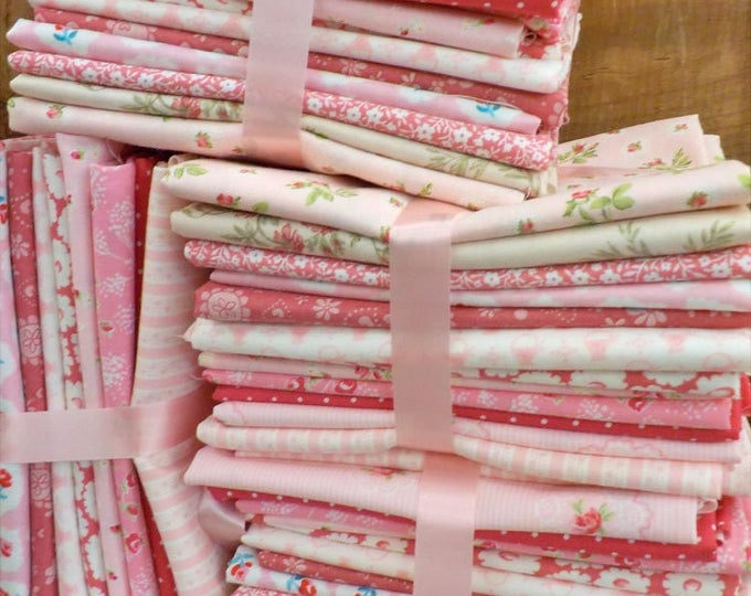 Featured listing image: Candy Hearts...12 fat quarter bundle...exclusive grouping