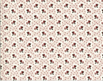 Redwork Gatherings Cream 49119 11 by Primitive Gatherings for moda fabrics