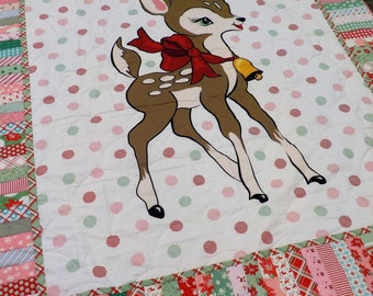 Peppermint Christmas...featuring Deer Christmas by Urban Chiks for Moda Fabrics...pattern designed by Mickey Zimmer