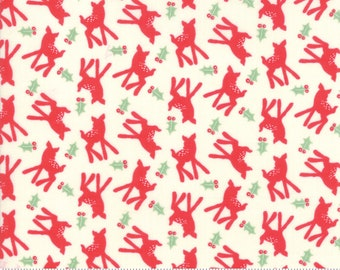 Deer Christmas Peppermint 31164 11 by Urban Chiks for Moda Fabrics
