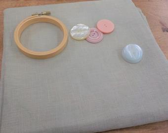 R & R Reproductions, Ligonier Latte, 32 ct, Fat Quarter, 100% linen, cross stitch linen
