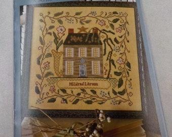 "Mildred's Garden House, ""Remember Me"" series #6, by Blackbird Designs...cross-stitch design"