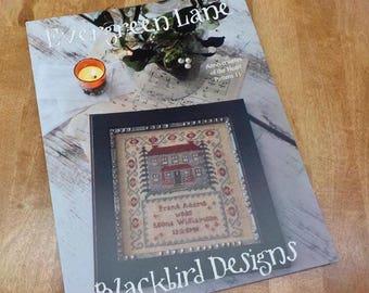 Evergreen Lane, Anniversaries of the Heart Pattern 11, by Blackbird Designs...cross-stitch design