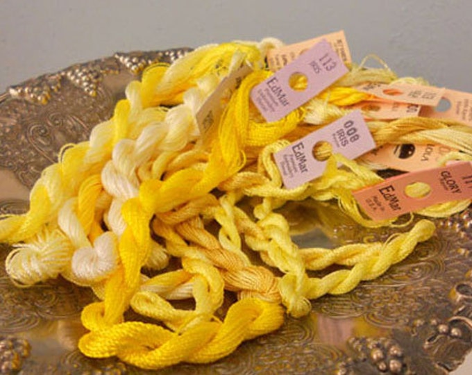 Lemon Drops Thread Pack of 10 skeins of Edmar Thread.