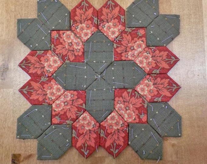 Lucy Boston Patchwork of the Crosses civil war block kit #28