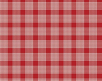 Yuletide Plaid Red Cream C9635-CREAM by My Mind's Eye for Riley Blake Designs...christmas, classic christmas