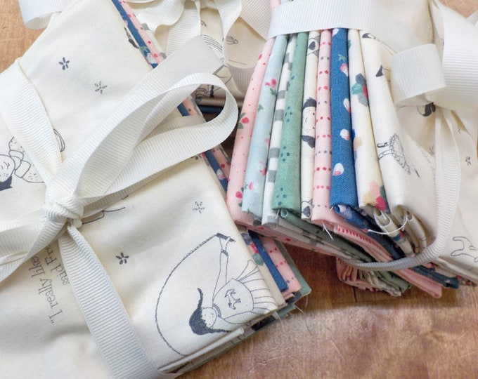 Freya and Friends by Janet Clare for Moda Fabrics...9 fat quarters