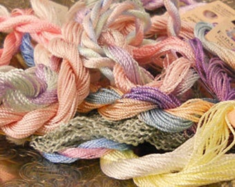 Shabby Cottage Thread Pack of 10 skeins of Edmar Thread.
