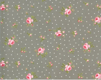 Sophie Medium Floral Cobblestone 18711 12 by Brenda Riddle for Moda Fabrics