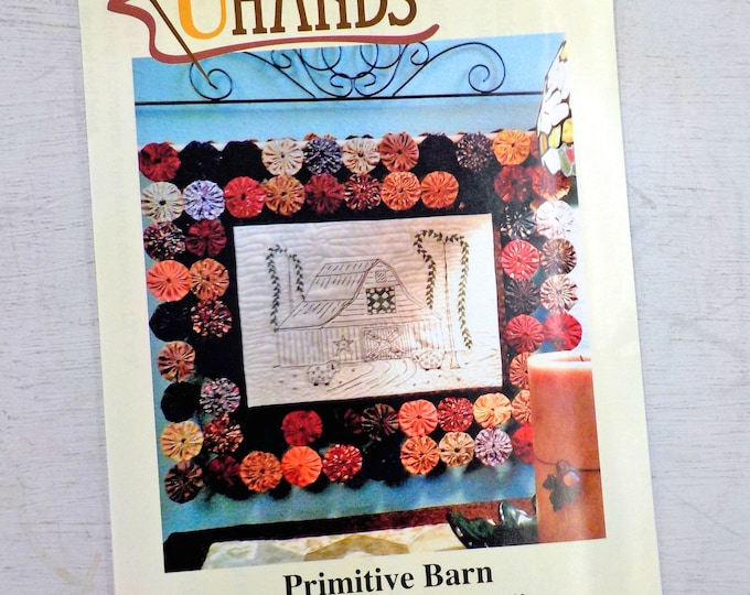 Primitive Barn pattern by Erica Plank of Unseen Hands...embroidery and yoyos