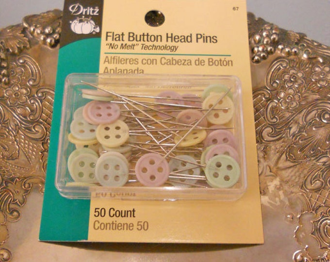 Dritz Flat Button Head Pins 50ct