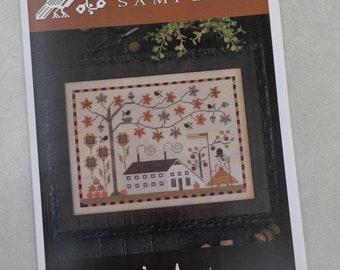 Betsy's Autumn by Plum Street Samplers...cross stitch pattern, Halloween cross stitch, thanksgiving, autumn