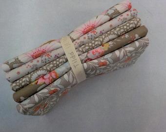Maple Farm umber and sand fat quarter bundle...a Tilda Collection designed by Tone Finnanger...5 fat quarters