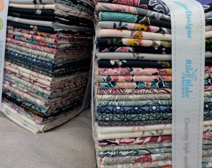 Featured listing image: The Winterbourne Collection by Liberty fabrics for Riley Blake Designs...33--fat quarters