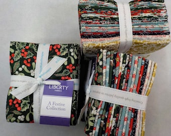 The Festive Collection by Liberty fabrics for Riley Blake Designs...18--fat quarters