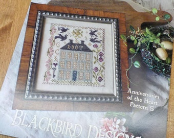 Farm House, Anniversaries of the Heart Pattern 5, by Blackbird Designs...cross-stitch design