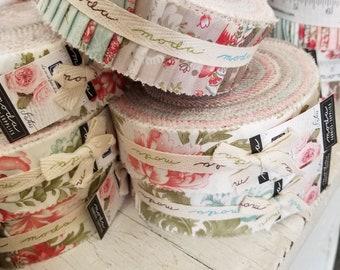 Rue 1800 Honey Bun by 3 Sisters for Moda Fabrics...factory cut roll, 40--1 1/2 inch strips, precut strips
