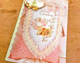 White Christmas Pillow pattern by Meg Hawkey of Crabapple Hill Studio