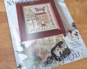 Moonlight Visitor, Anniversaries of the Heart Pattern 9, by Blackbird Designs...cross-stitch design