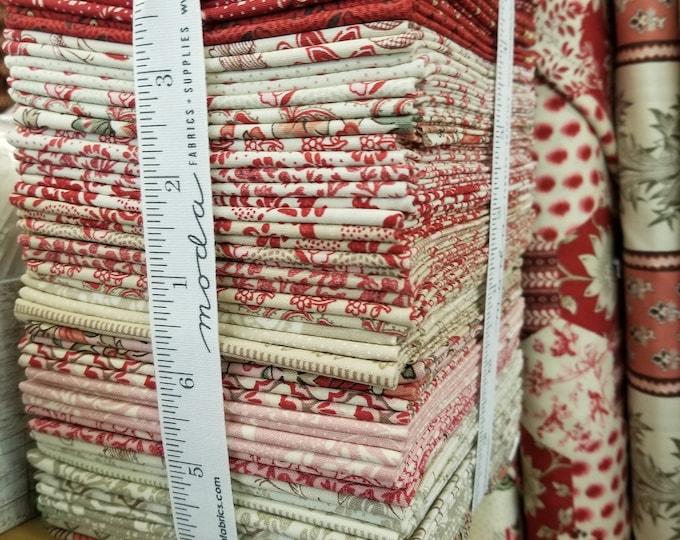 Chafarcani fat quarter bundle, factory bundle, 40 fat quarters...designed by French General for Moda Fabrics