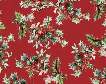 Yuletide Main Red C9630-RED by My Mind's Eye for Riley Blake Designs...christmas, classic christmas