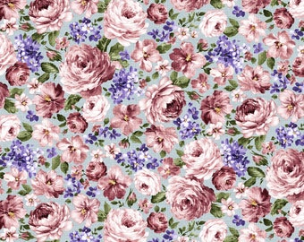 Fragrant Roses by MMF Collection Blue Flowers DCX9444-BLUE
