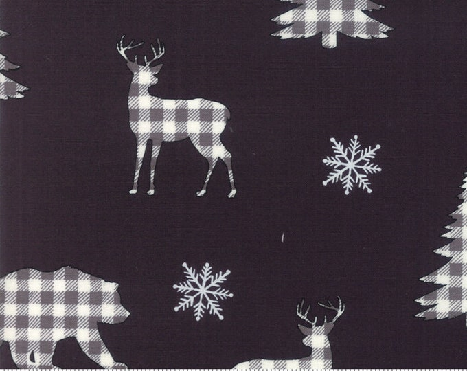 Holiday Lodge Charcoal 19891 13 designed by Deb Strain for Moda Fabrics