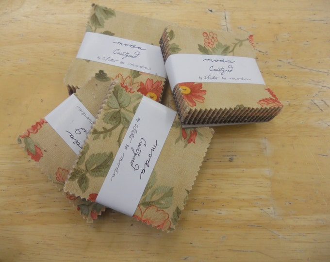 Courtyard mini charm pack by 3 Sisters Designs for moda fabrics