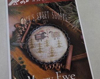 Merry Ewe, Jack's Sweet Shoppe, by Plum Street Samplers...cross stitch pattern, Christmas cross stitch