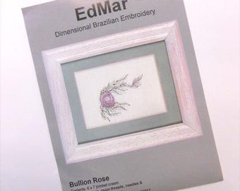 Bullion Rose...EdMar kit...Brazilian embroidery