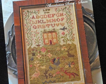 The Country Life, Loose Feathers Abecedarian series pattern 7 by Blackbird Designs...cross-stitch design