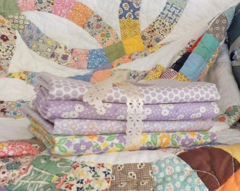 Pantry Pack:  Plums....4--1/2 yards of 30's reproduction lavenders