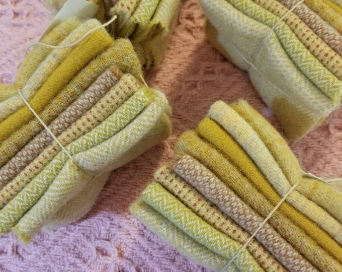 Sweet Corn...wool bundle...8 pieces measuring approximately 4 x 6 inches