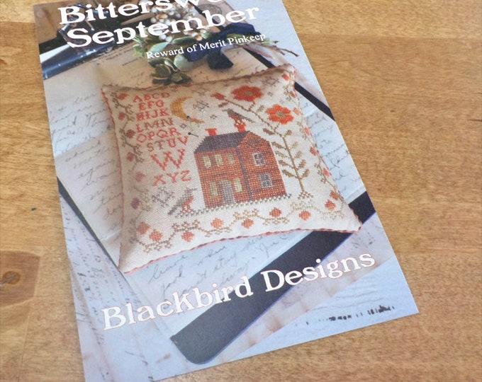 Bittersweet September, Reward of Merit Pinkeep, by Blackbird Designs...cross-stitch design