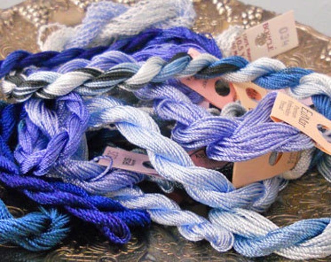 Winter Sky Thread Pack of 10 skeins of Edmar Thread.