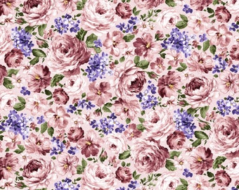 Fragrant Roses by MMF Collection Pink Flowers DCX9444-PINK