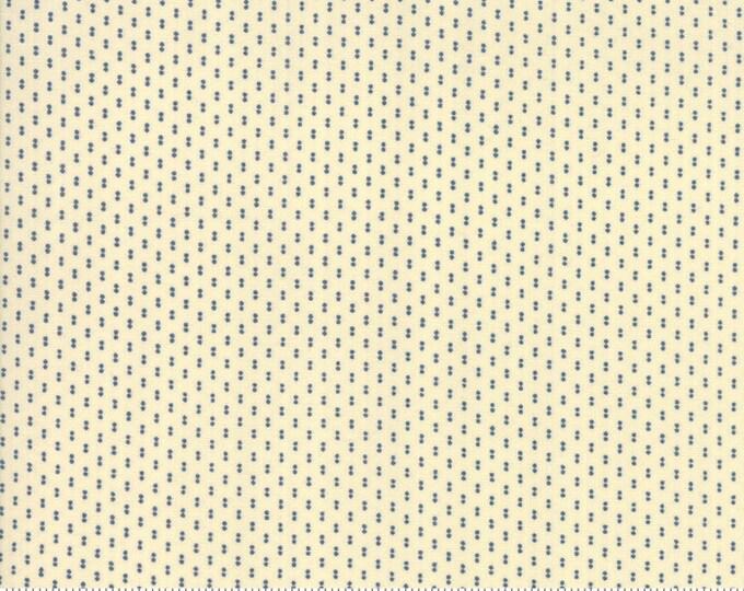 Sarah's Story 1830-1850, Cream Indigo 31598 14 fabric designed by Betsy Chutchian for Moda Fabrics