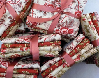 Pantry Pack:  French Florals...featuring La Rose Rouge by French General for Moda Fabrics...4---half yards