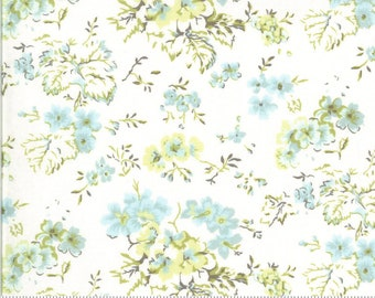 Dover Field Floral Linen White 18700 11  by Brenda Riddle for Moda Fabrics