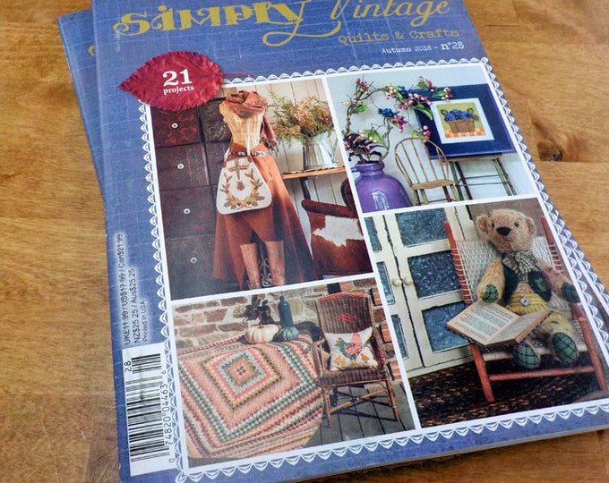 Last one! Simply Vintage by Quilt Mania autumn 2018 issue