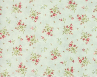 Rue 1800 44227-13 Robin's Egg floral by 3 Sisters for Moda Fabrics