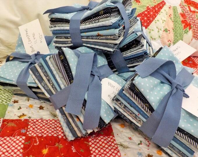 Blue Christmas...12 fat quarter bundle of blues...exclusive grouping