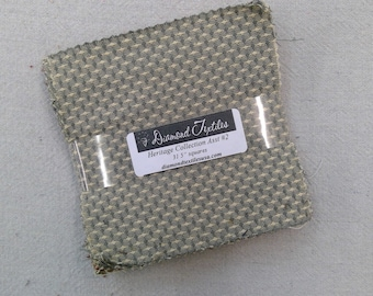 Heritage Collection Assortment #2...charm pack...5 inch squares...31 squares...Diamond Textile Wovens